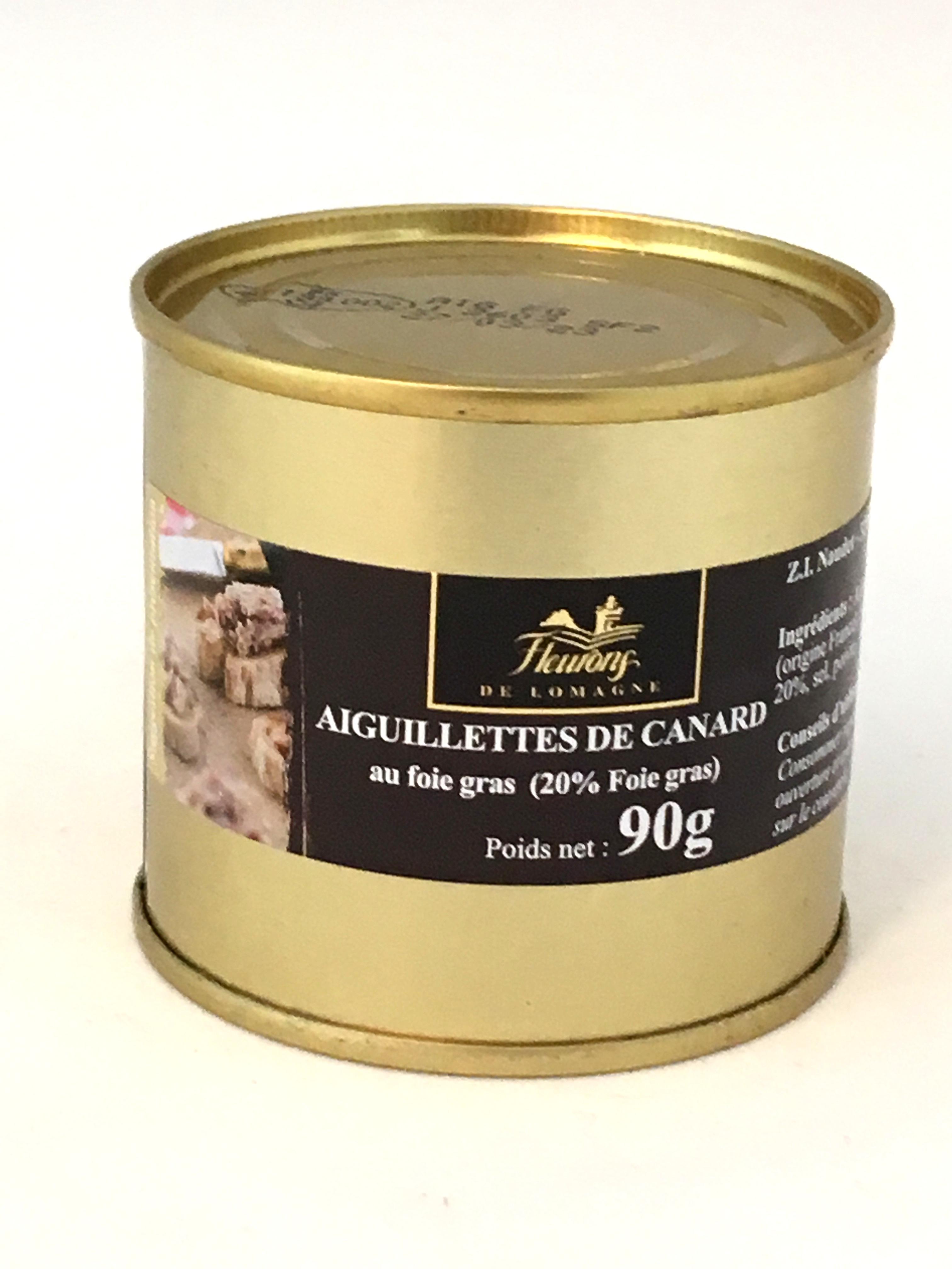 Aiguillettes de canard au foie gras (20% Foie Gras) 90g (boîte)