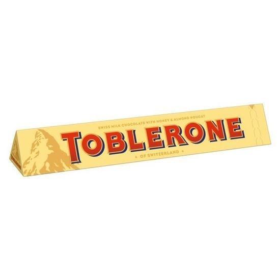 Barre chocolat au lait 50 g toblerone vendu a l unite