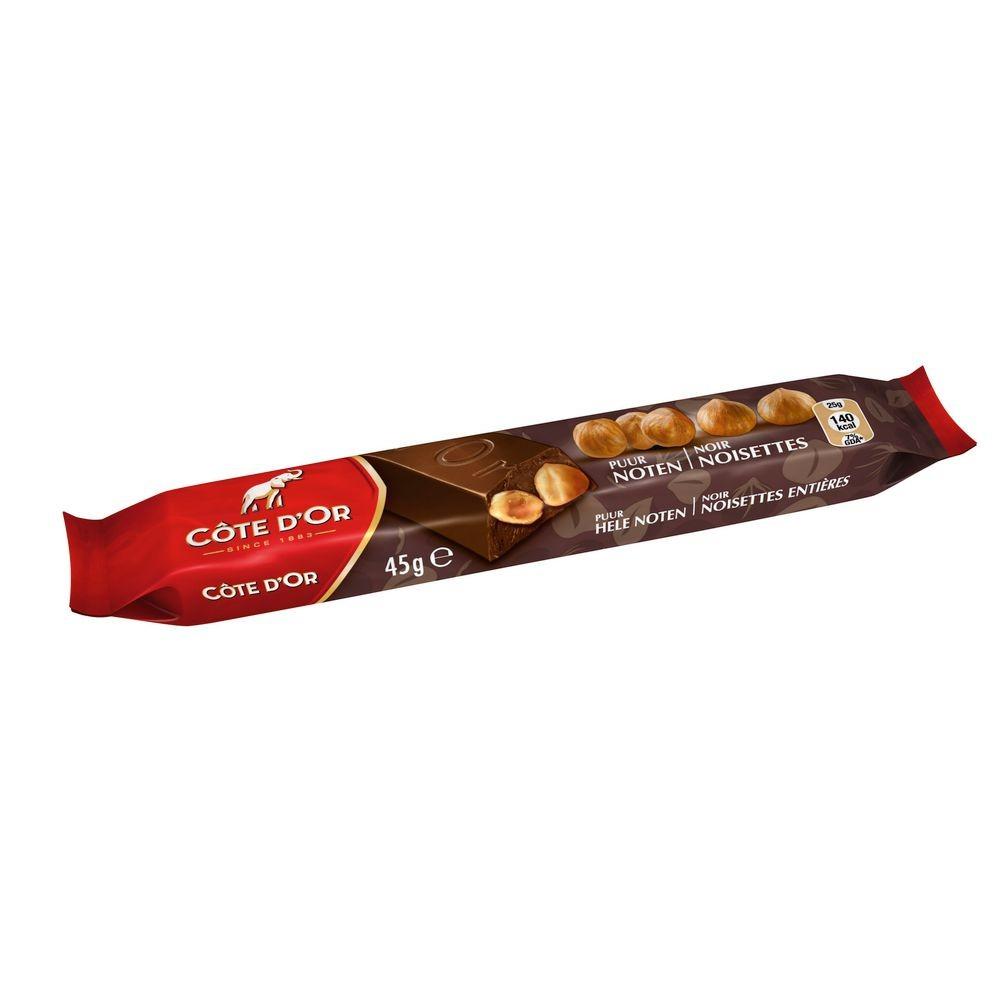 Barre chocolat lait noisettes 45 g cote d or vendu a l unite