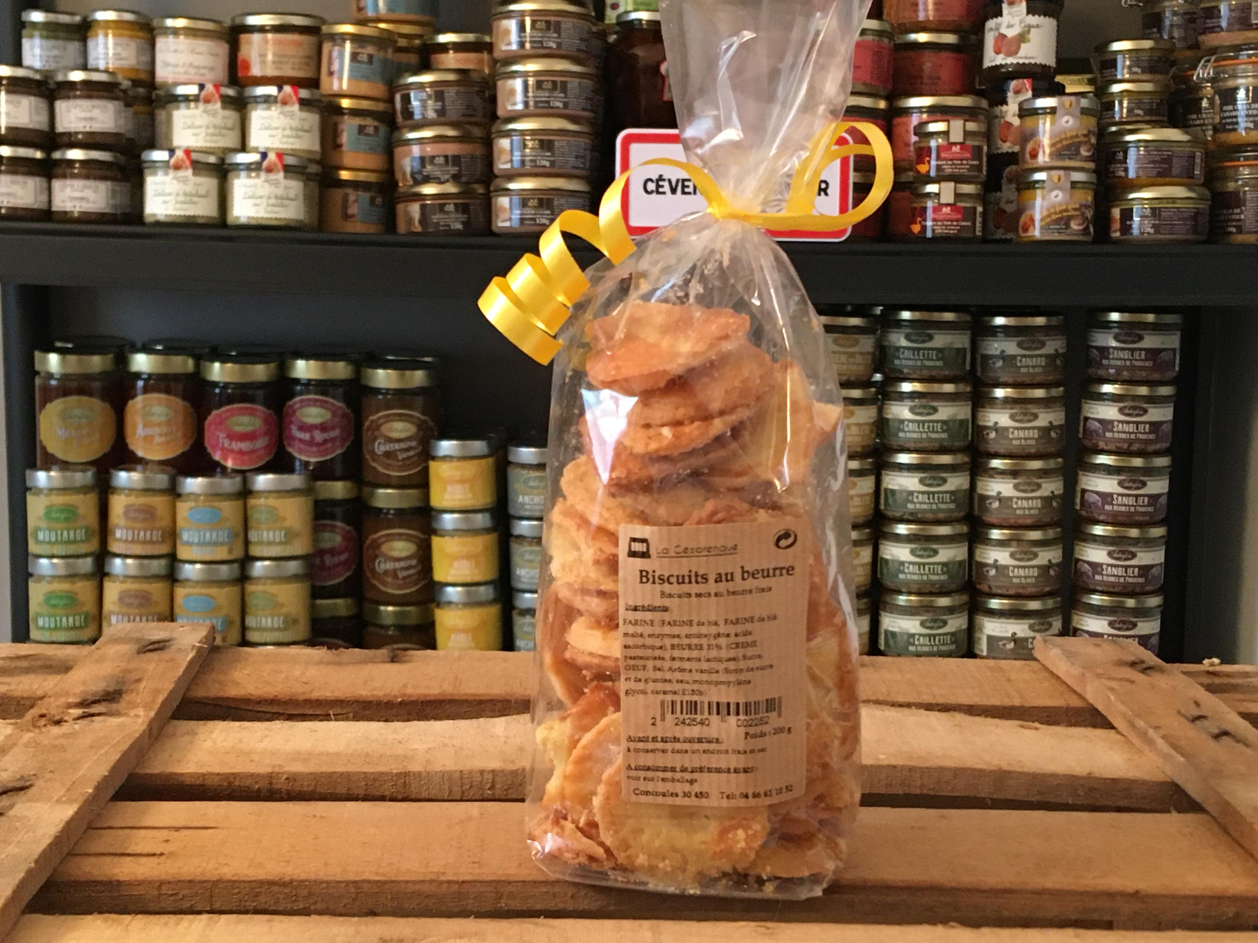 Biscuits beurre 200g ESAT La Cézarenque en Cévennes Concoules - Copie