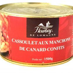 Cassoulet aux manchons de canard confits 1500g (boîte fer)