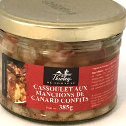 Cassoulet aux manchons de canard confits 385g (bocal)