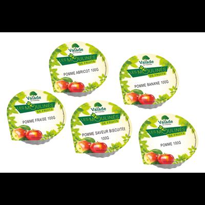 Compote assortiment 100 g valade pomme vendu a l unite