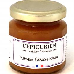 Confiture de mangue, passion et Rhum 125g (bocal)