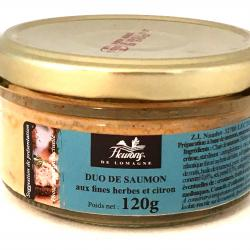 Duo de saumon aux fines herbes et citron 120g (bocal)