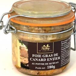 Foie gras de canard entier au poivre de Sichuan 180g (bocal)