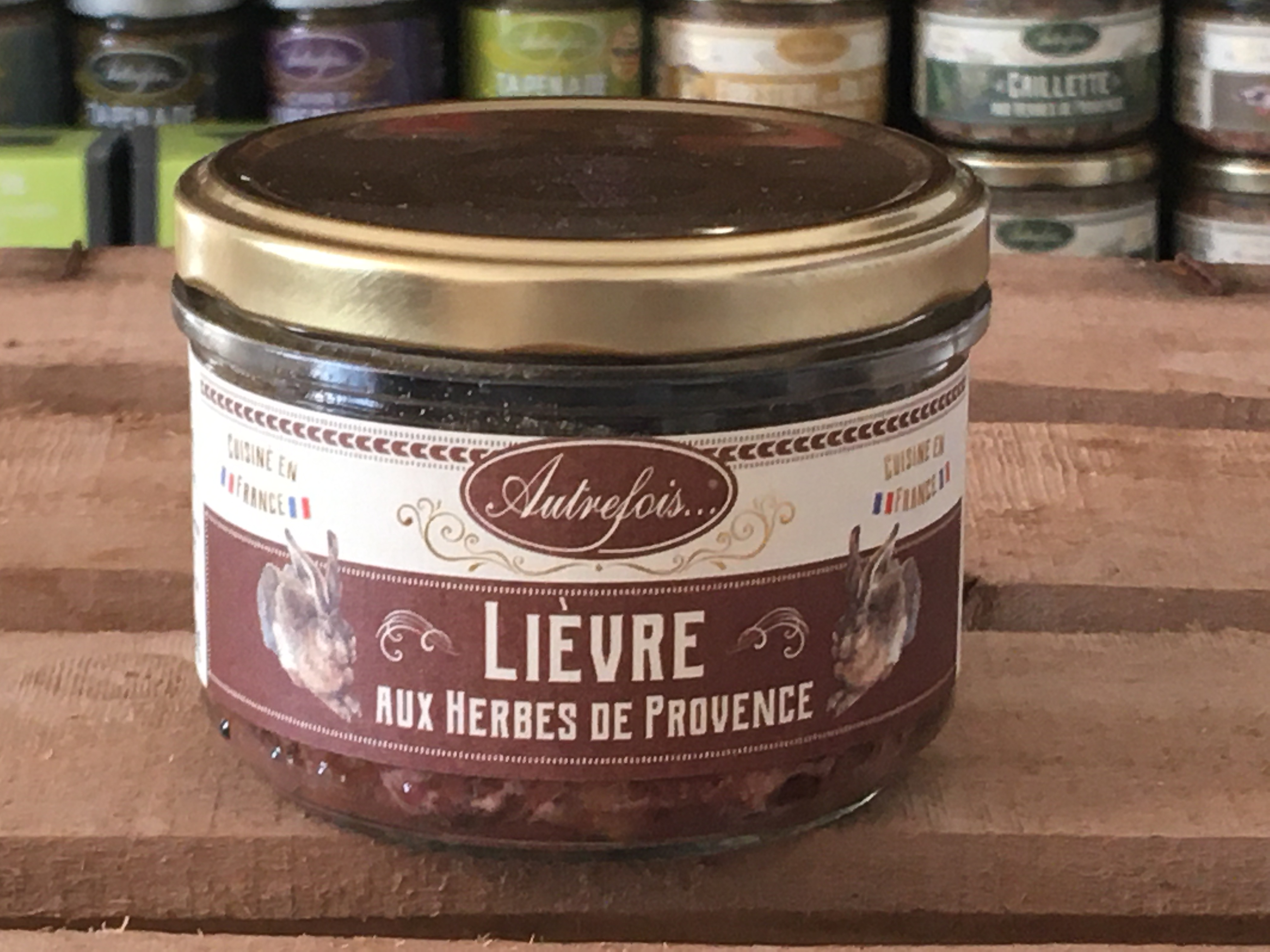 LIEVRE HERBES PROVENCE 180g Autrefois Terroir Milhaud Gard