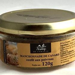 Manchonnade de canard confit aux poivrons 120g (bocal) produits du terroir