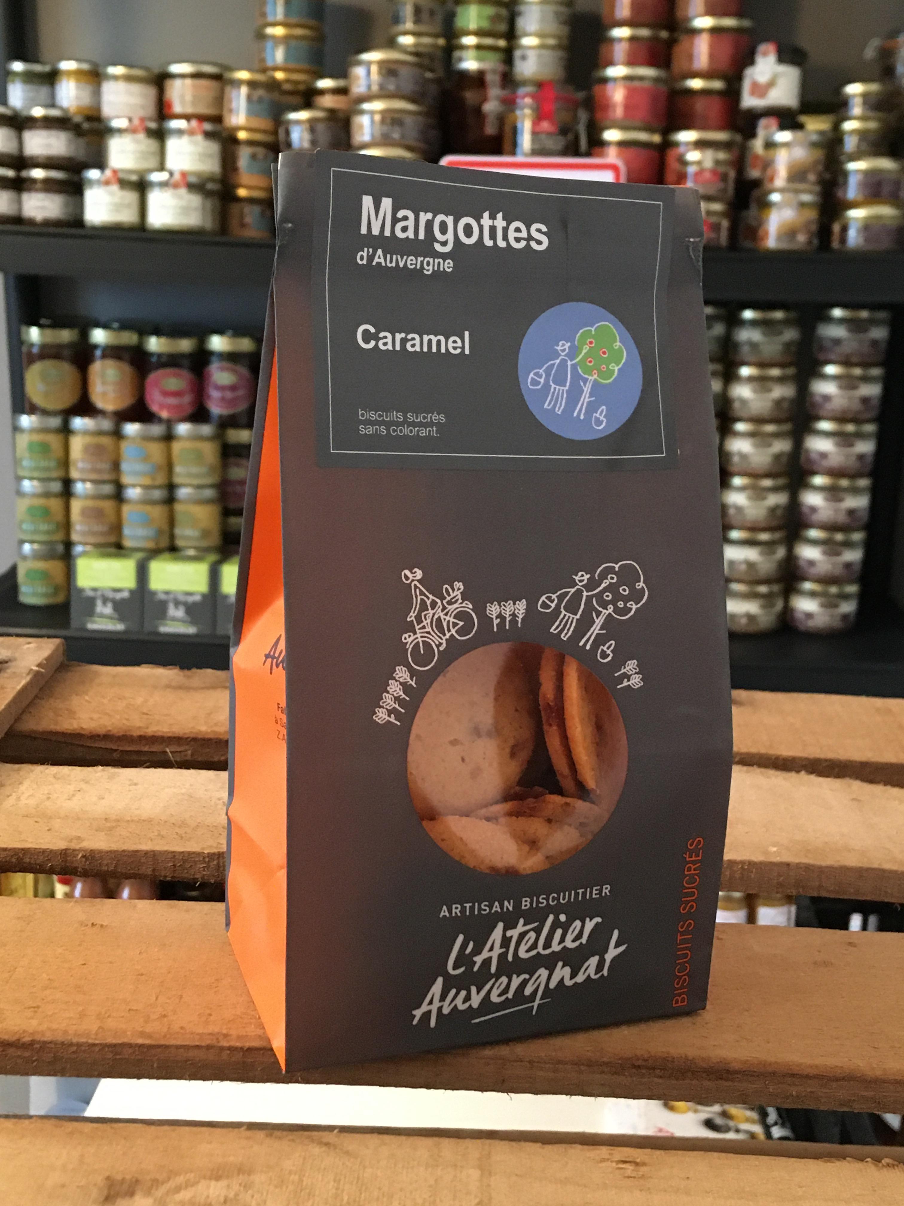 MARGOTTES d'Auvergne Caramel Sucrés 140 g  Biscuiterie L'atelier auvergnat