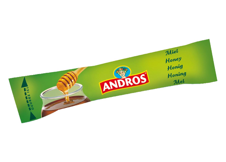 Miel en sticks 20 g andros vendu a l unite