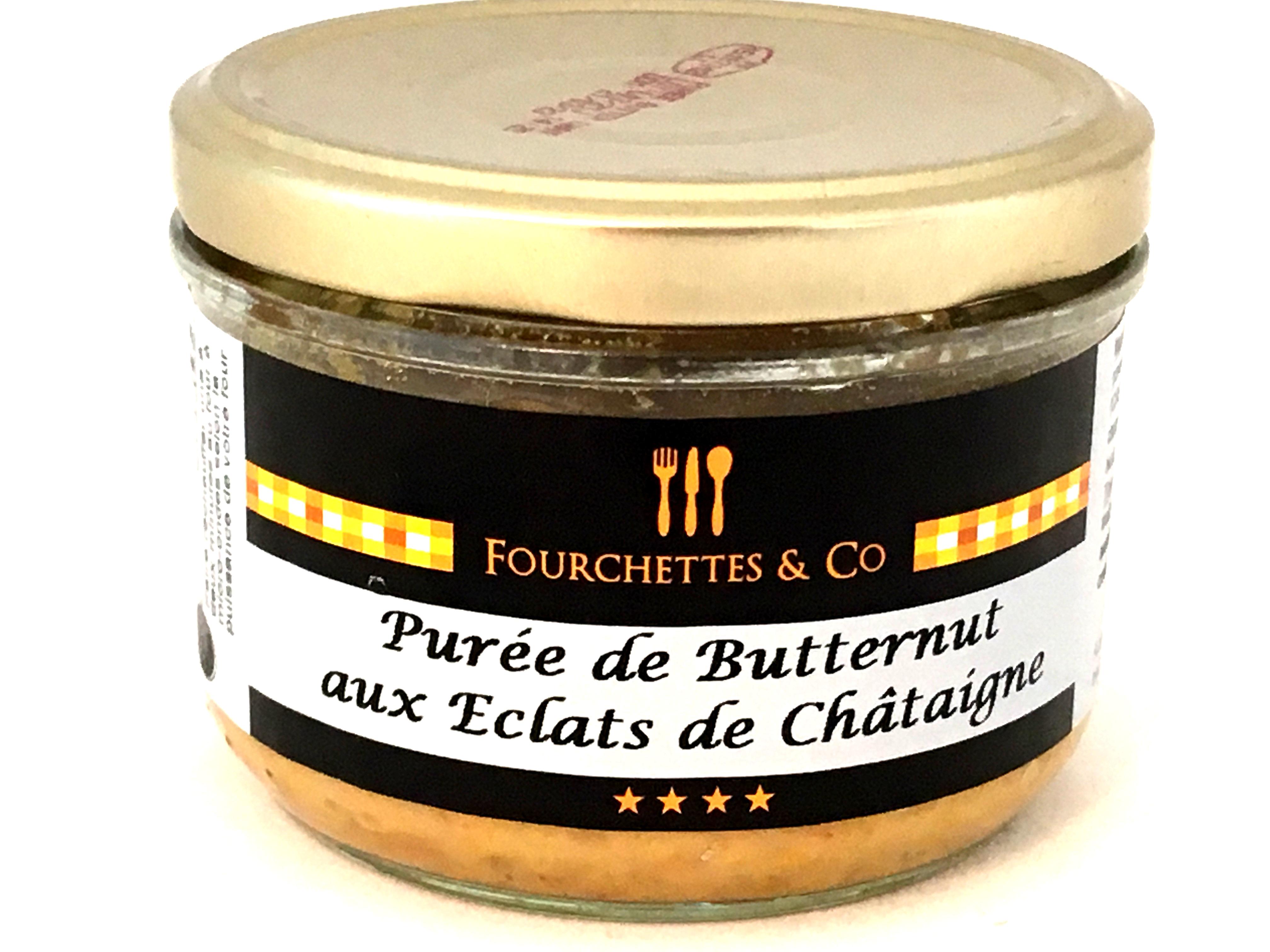 Mousseline de butternut et éclats de châtaignes 180g (bocal)