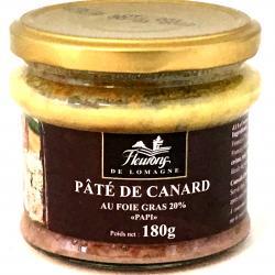 Pâté de canard au foie gras (20% foies gras) Papi 180g (bocal)