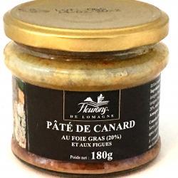 Pâté de canard aux figues et au foie gras (20% foie gras) 180g (bocal)