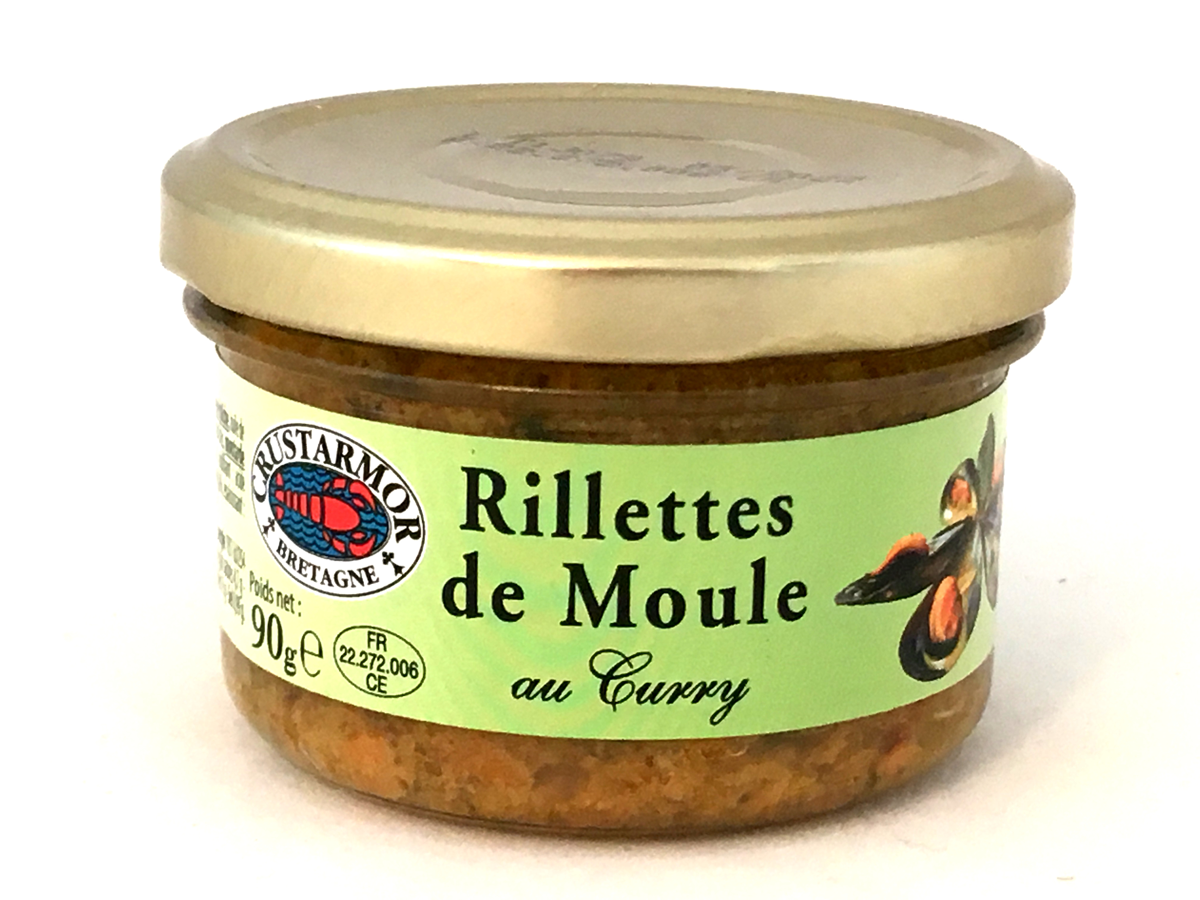 Rillettes de moules au curry 90g
