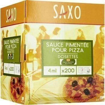Sauce pimentee pour pizza en dosettes 4 ml saxo vendu a l unite