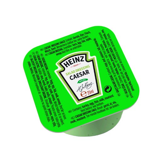 Sauce salade caesar 25 ml heinz vendu a l unite