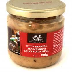 Sauté de dinde aux marrons sauce forestière 300g (bocal)