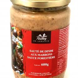Sauté de dinde aux marrons sauce forestière 600g (bocal)