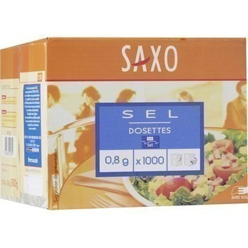 Sel en dosettes 0 8 g saxo vendu a l unite