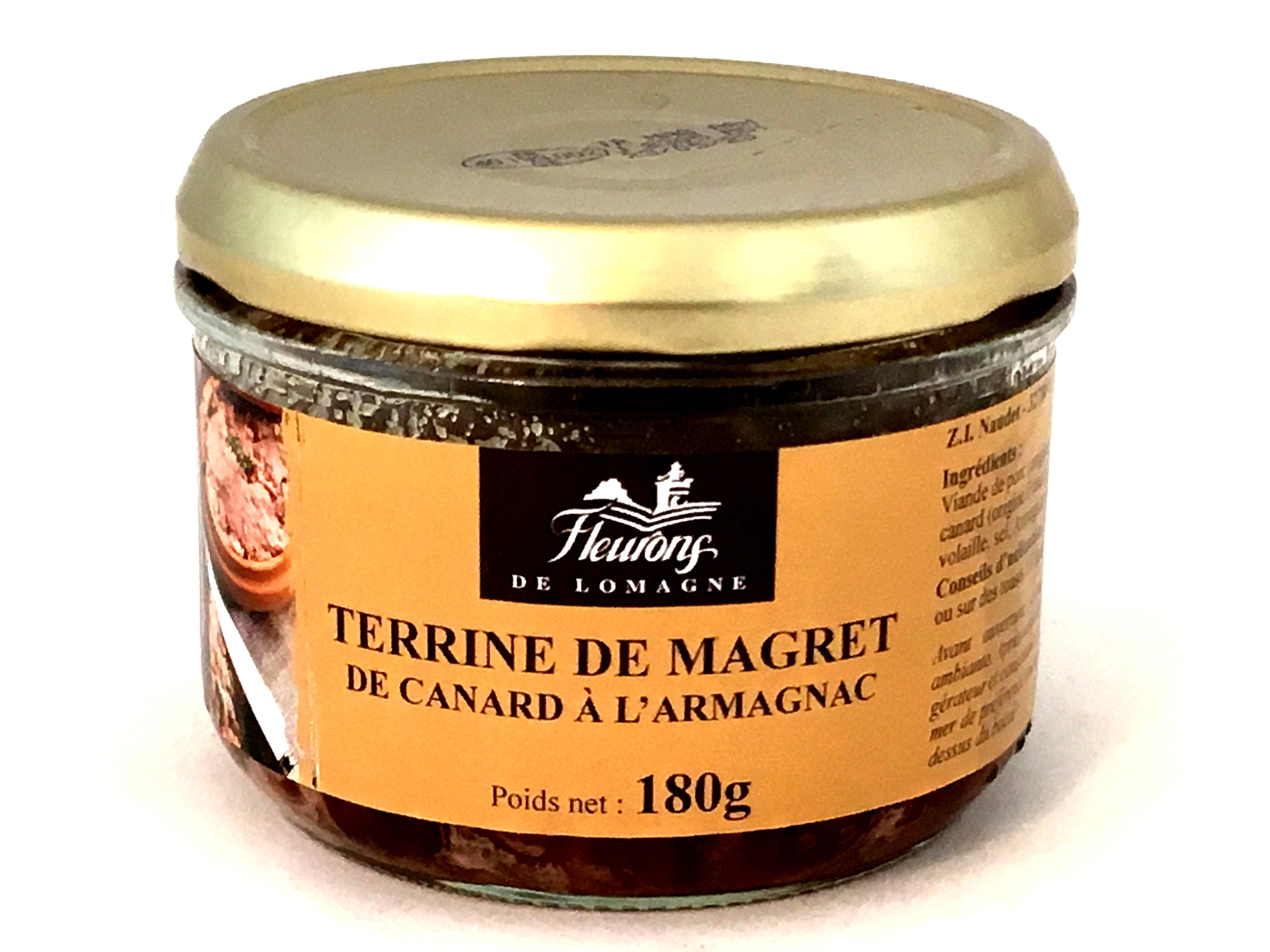 Terrine au magret de canard à l'Armagnac 180g