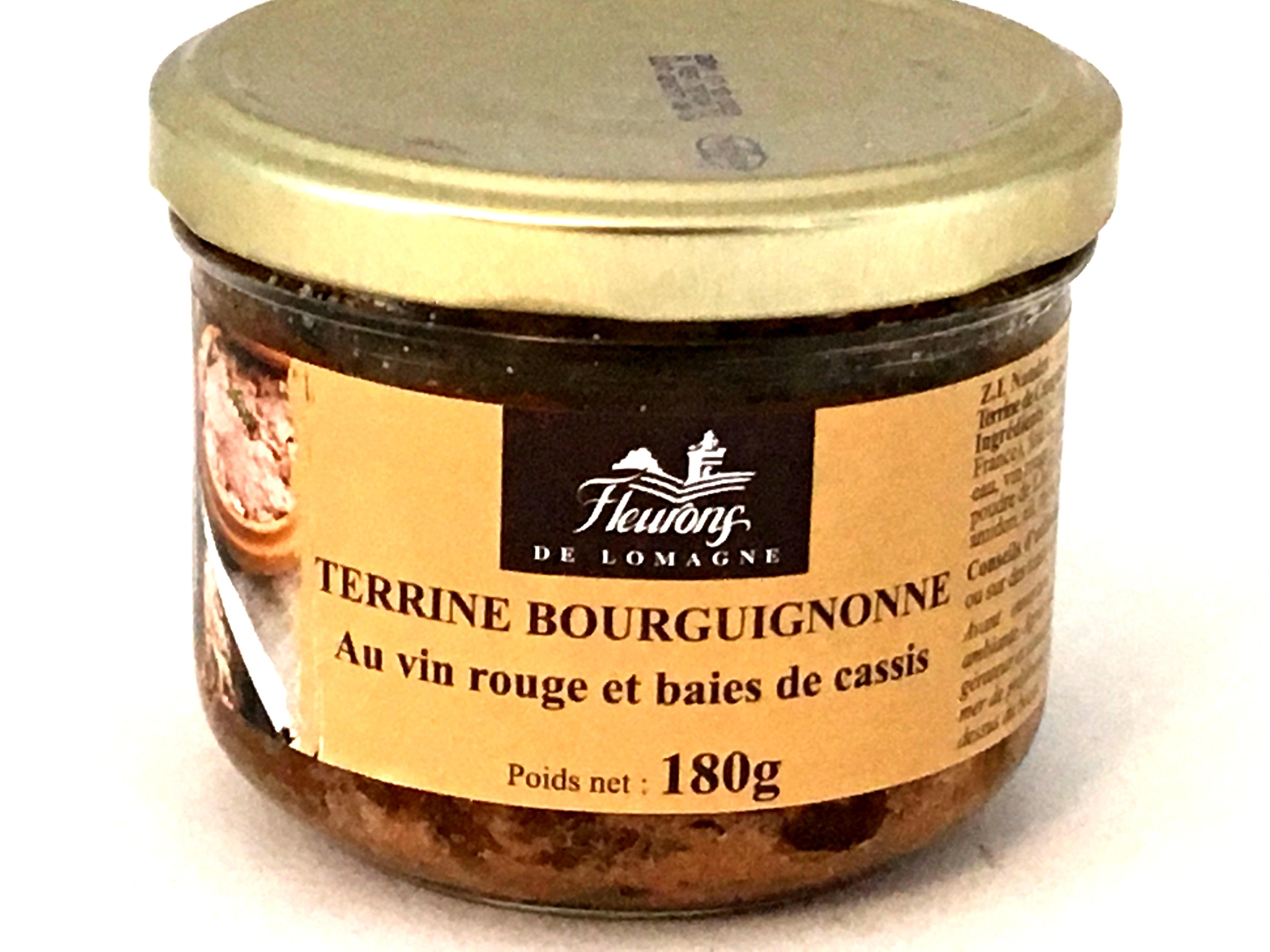 Terrine Bourguignonne au vin rouge et baies de cassis 180g (bocal)