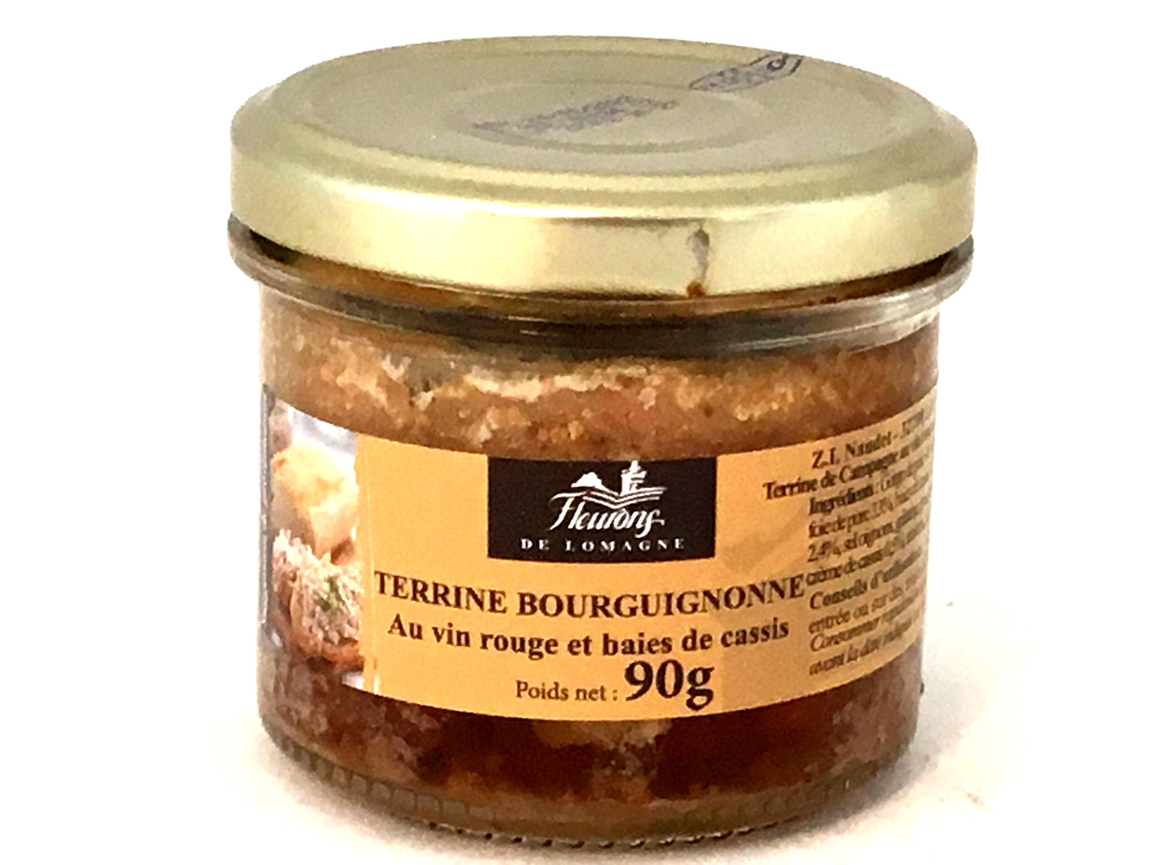 Terrine Bourguignonne au vin rouge et baies de cassis 90g (bocal)