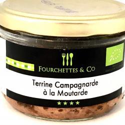 Terrine campagnarde à la moutarde BIO 180g (bocal)