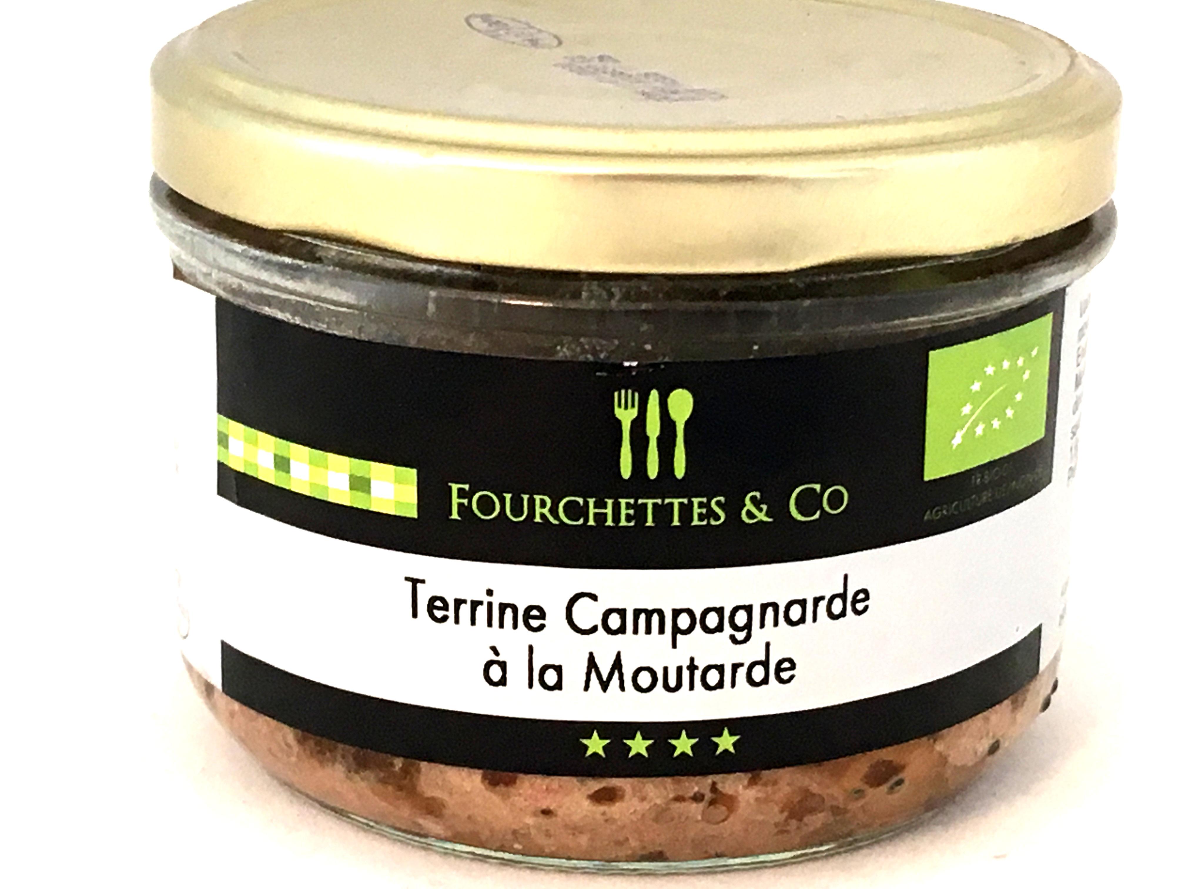 Terrine campagnarde à la moutarde BIO 90g (bocal)
