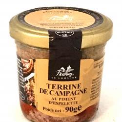 Terrine de campagne au piment d'Espelette 90g (bocal)