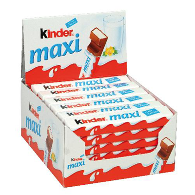21 g kinder maxi chocolat