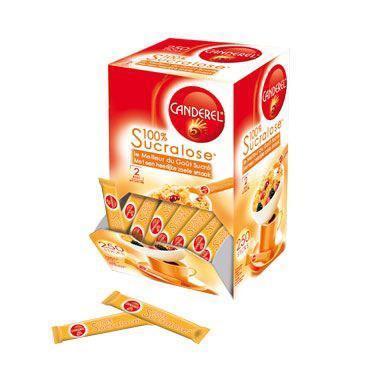 250 sticks 100 sucralose canderel colis gastronomiques stick et dosettes individuelles