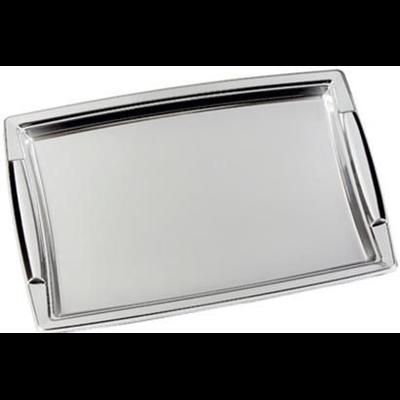 5 plateaux rectangulaires argent 36 x 25 cm