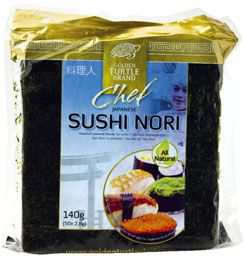 Algue sushi nori 50 x 140 g golden turtle chef
