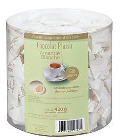 Amandes blanches 140 pieces chocolat plaisir pour professionnels et collectivites