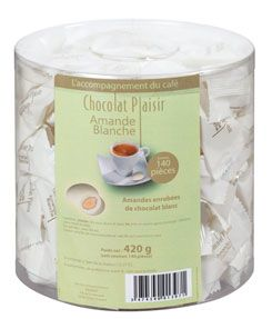 Amandes blanches 140 pieces chocolat plaisir