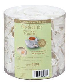 Amandes blanches chocolat plaisir vendu a l unite