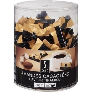 Amandes cacaotees saveur tiramisu saxo vendu a l unite