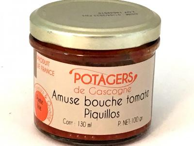 Amuse bouche tomate piquillos 100g bocal 1