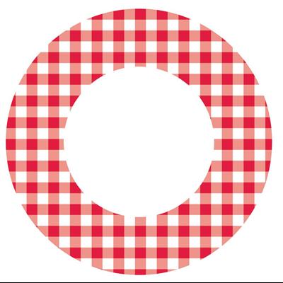 Assiette jetable en carton vichy 18 cm vendu par 100 1