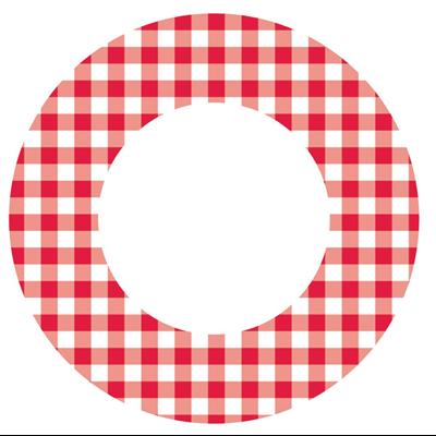 Assiette jetable en carton vichy 23 cm vendu par 100 1
