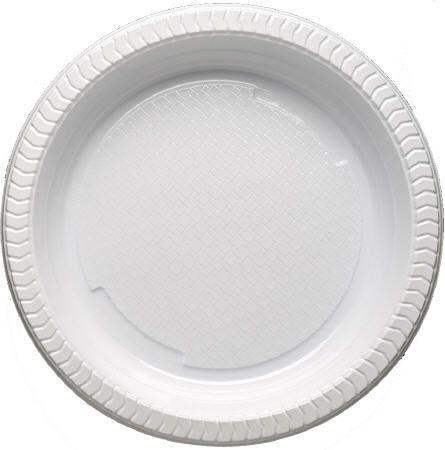 Assiette plastique blanches 20 5 cm x100 pour bureau
