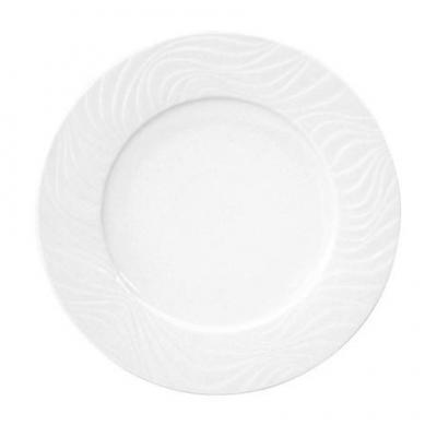 Assiette plate waves 22 cm pour bureau