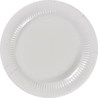 Assiette ronde carton recycle blanc 18 cm x 100 le nappage