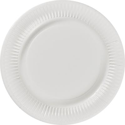 Assiette ronde carton recycle blanc 23 cm x 100 le nappage