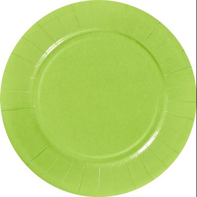 Assiette ronde carton recycle granny 18 cm x 100 le nappage