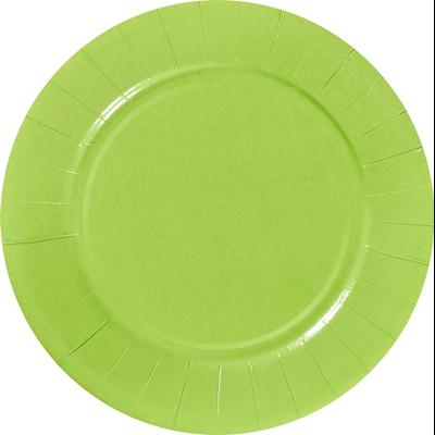 Assiette ronde carton recycle granny 23 cm x 100 le nappage