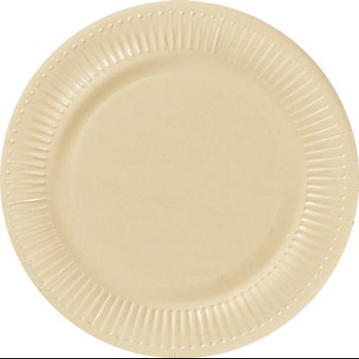Assiette ronde carton recycle ivoire 23 cm x 100 le nappage