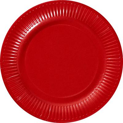 Assiette ronde carton recycle rouge 18 cm x 100 le nappage