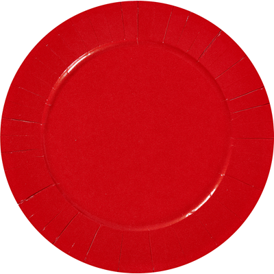 Assiette ronde carton recycle rouge 23 cm x 100 le nappage