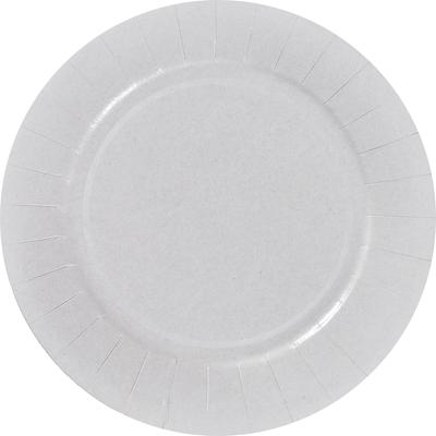 Assiette ronde pur bois blanc 18 cm x 100 le nappage